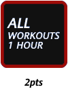 ALL WORKOUTS 1HOUR +